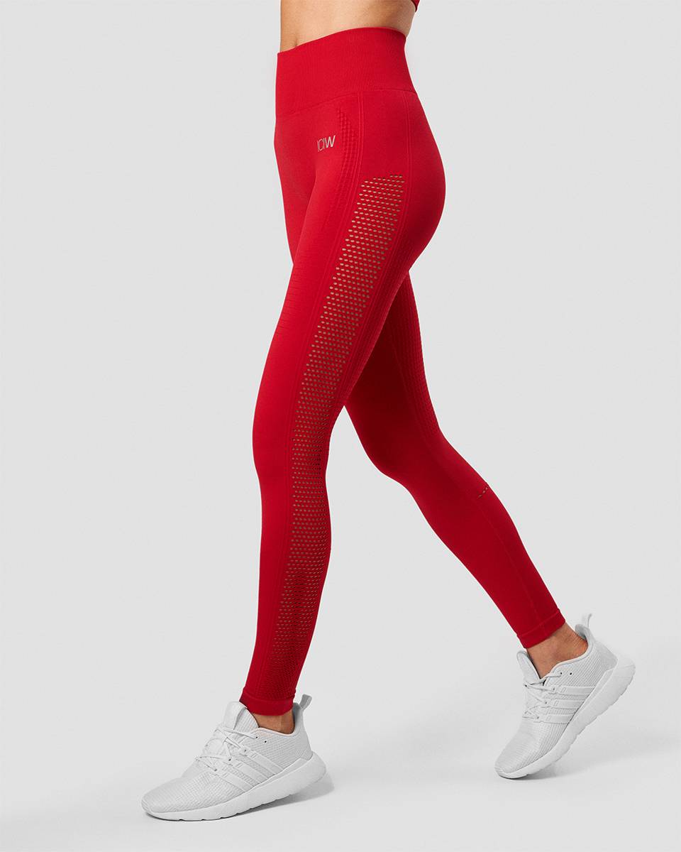Dynamic Seamless Tights Deep Red Wmn