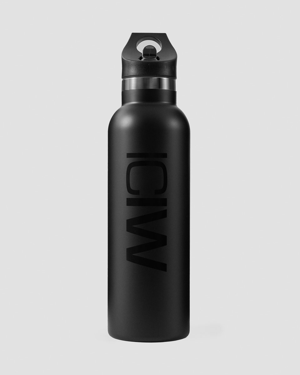 Stainless Steel Water Bottle Black 600ml
