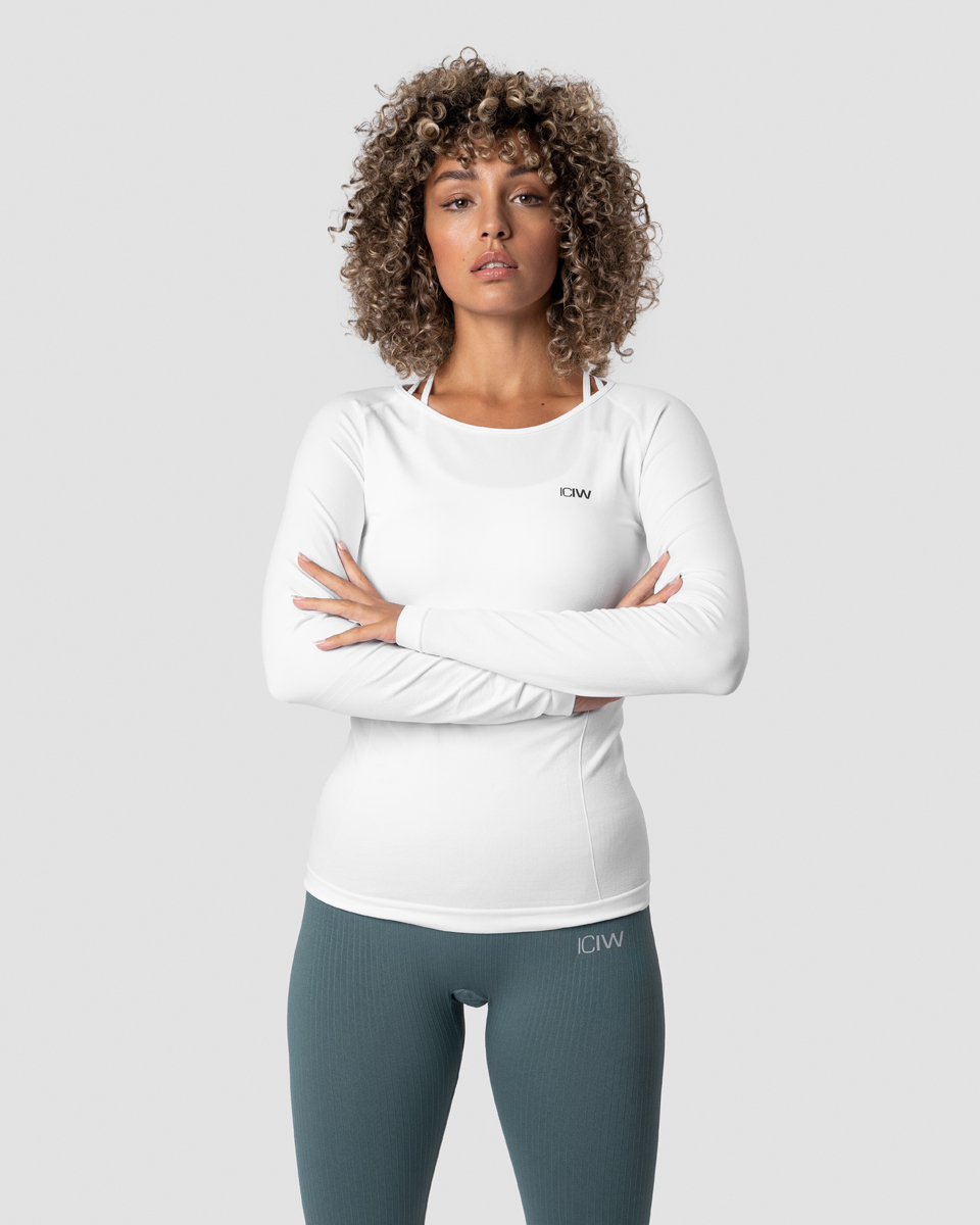 Everyday Seamless LS White Wmn