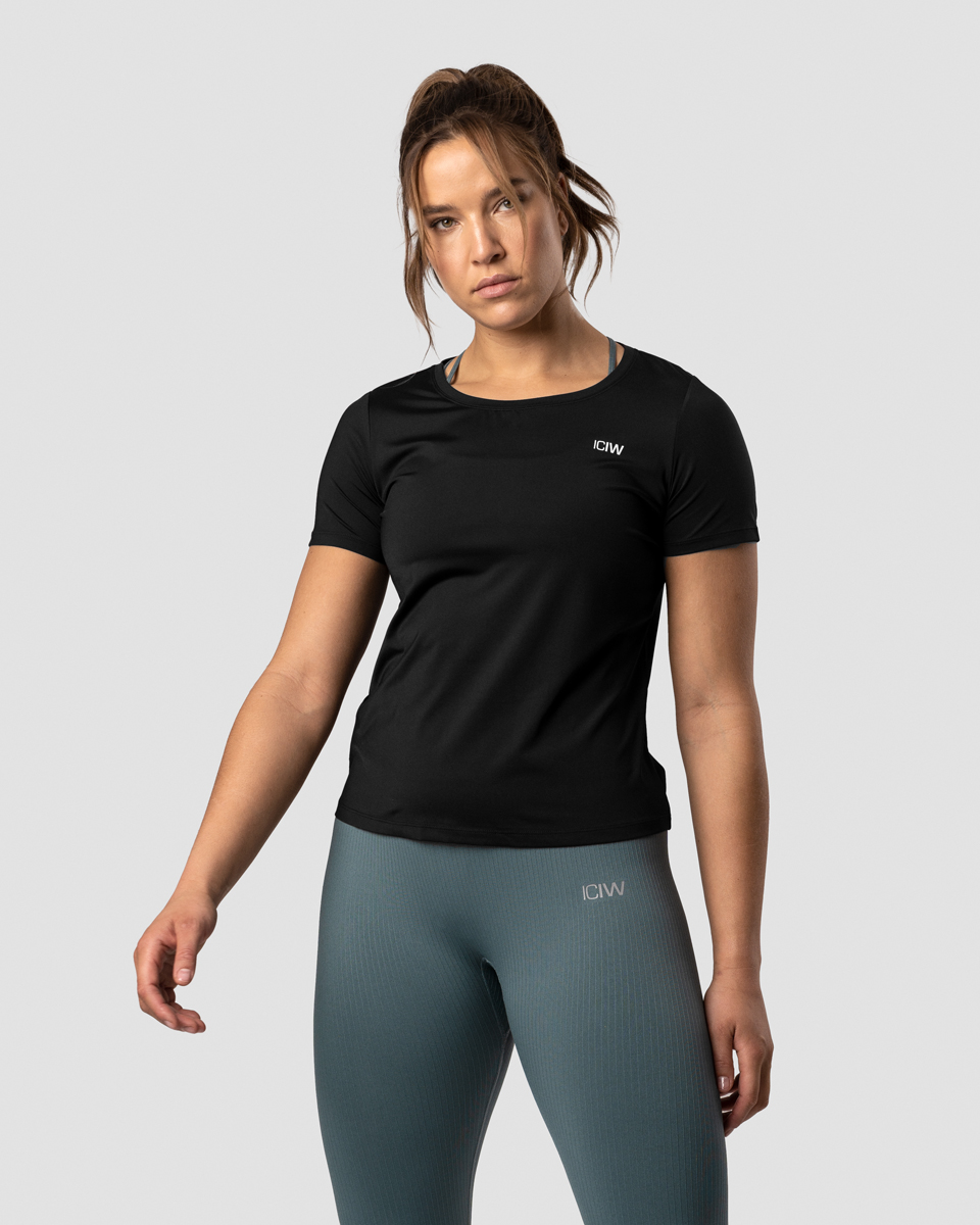 Training T-shirt Black Wmn